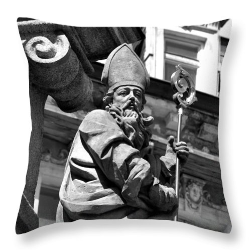 Saints Throw Pillow featuring the photograph Saint In Vary by Noah Cole