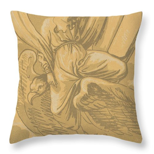 Throw Pillow featuring the drawing Saint John The Evangelist by John Skippe After Parmigianino
