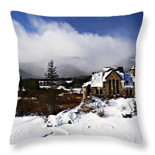 Church Throw Pillow featuring the photograph Saint Malo Church Colorado by Marilyn Hunt