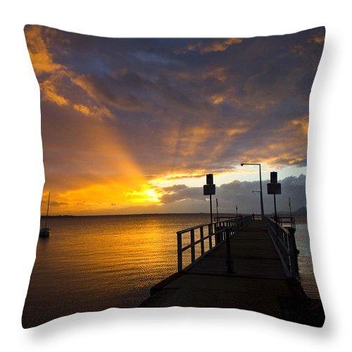Sunrise Throw Pillow featuring the photograph Salamander Bay Sunrise by Sheila Smart Fine Art Photography