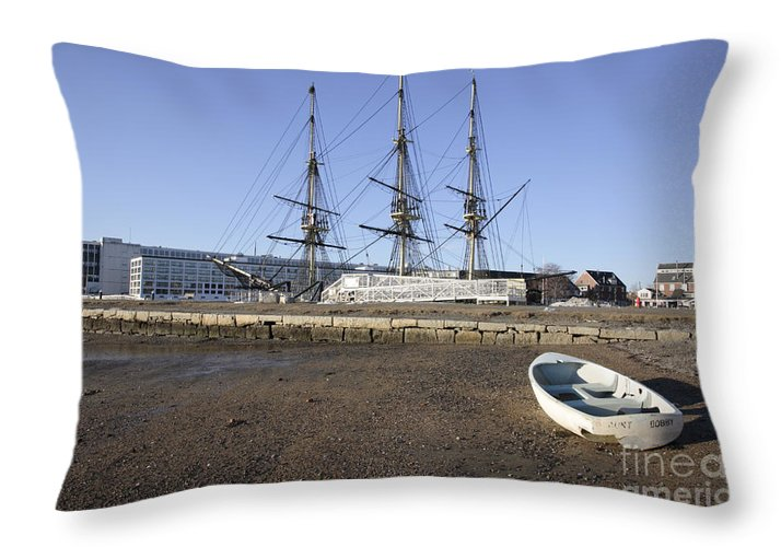 Salem Throw Pillow featuring the photograph Salem Maritime National Historic Site In Salem Massachusetts Usa by Erin Paul Donovan