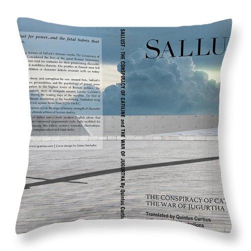 Quintus Curtius Throw Pillow featuring the digital art Sallust Cover by Quintus Curtius
