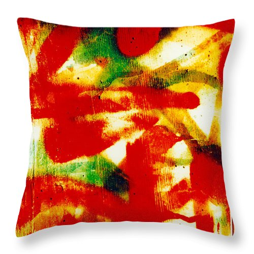 Abstract Throw Pillow featuring the photograph Salsa by David Rivas