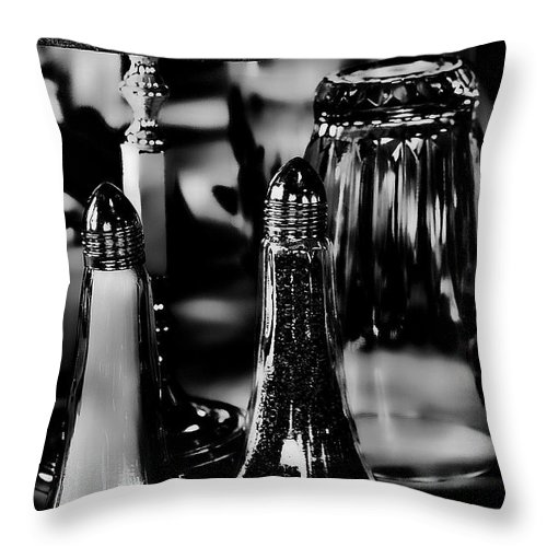 Salt Throw Pillow featuring the photograph Salt And Pepper by David Patterson