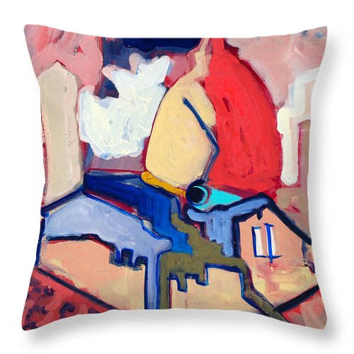 Florence Throw Pillow featuring the painting Salutare by Kurt Hausmann