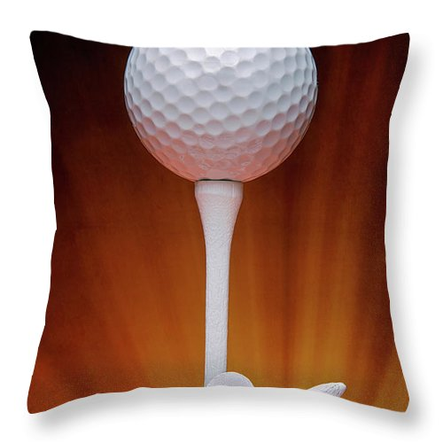 Activity Throw Pillow featuring the photograph Salute To Golf by Tom Mc Nemar