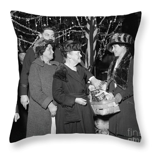 1923 Throw Pillow featuring the photograph Salvation Army, 1923 by Granger