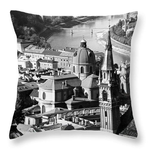 Salzburg Throw Pillow featuring the photograph Salzburg Austria 1 by Lee Santa