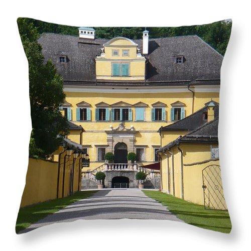 Austria Throw Pillow featuring the photograph Salzburg Chateau by Carol Groenen