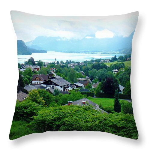 Austria Throw Pillow featuring the photograph Salzburg Lake District by Carol Groenen