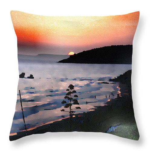 Sunset Throw Pillow featuring the photograph San Adeodato Sunset II by Dee Flouton