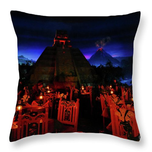 Fine Art Photography Throw Pillow featuring the photograph San Angel Inn Mexico by David Lee Thompson