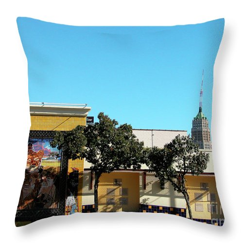 Bright Throw Pillow featuring the photograph San Antonio Skyline by Thomas R Fletcher