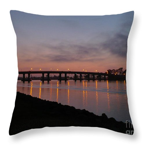 San Diego Throw Pillow featuring the photograph San Diego Sunset 1 by Carol Groenen