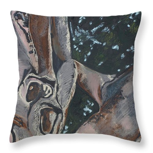 Contemporary Tree Throw Pillow featuring the drawing San Diego Zoo by Leah Tomaino