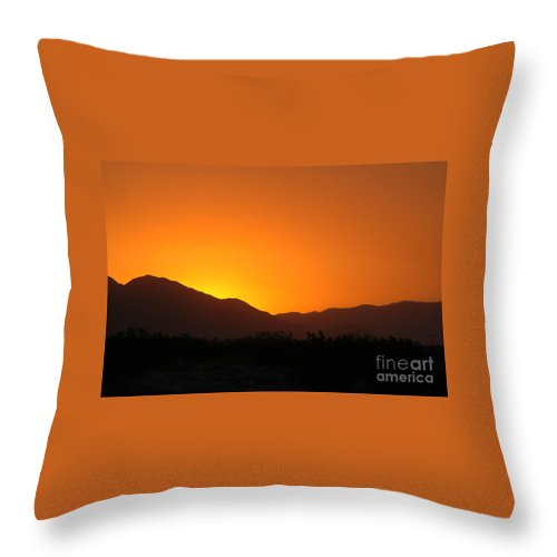 Sunset Throw Pillow featuring the photograph San Jacinto Dusk Near Palm Springs by Michael Ziegler