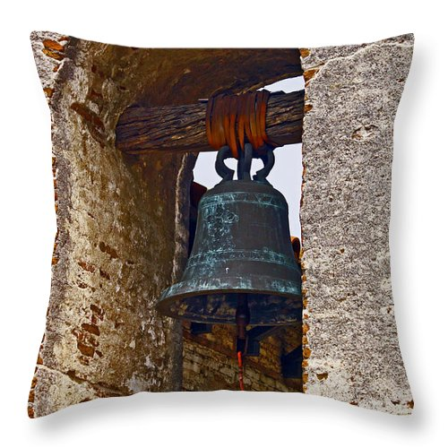 Image Throw Pillow featuring the photograph San Juan Capistrano Mission by David Kehrli