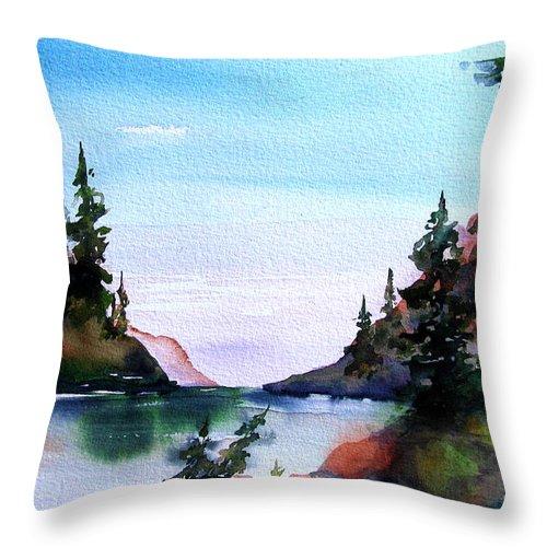 San Juan Island Throw Pillow featuring the painting San Juan Island by Marti Green