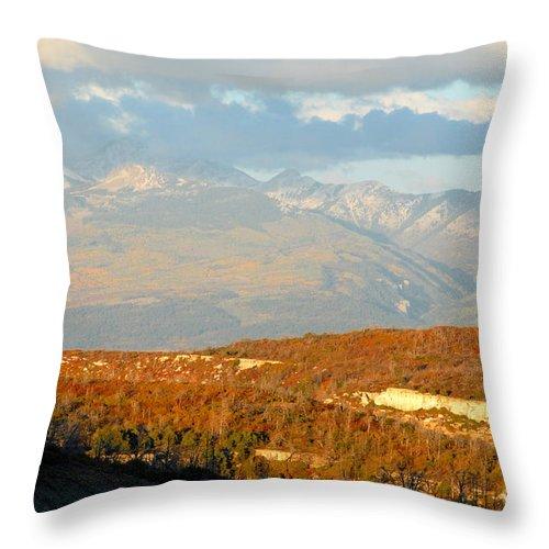 San Juan Mountains Colorado Throw Pillow featuring the photograph San Juan Mountains by David Lee Thompson