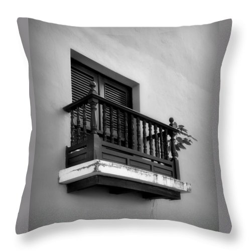 Window Throw Pillow featuring the photograph San Juan Window 2 by Perry Webster