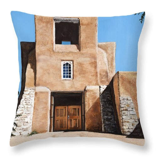 Art Throw Pillow featuring the painting San Miguel by Mary Rogers