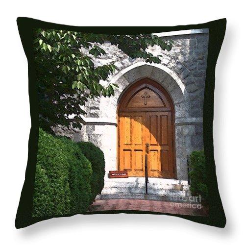 Church Throw Pillow featuring the photograph Sanctuary by Debbi Granruth