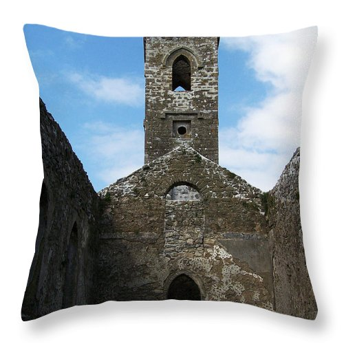 Ireland Throw Pillow featuring the photograph Sanctuary Fuerty Church Roscommon Ireland by Teresa Mucha
