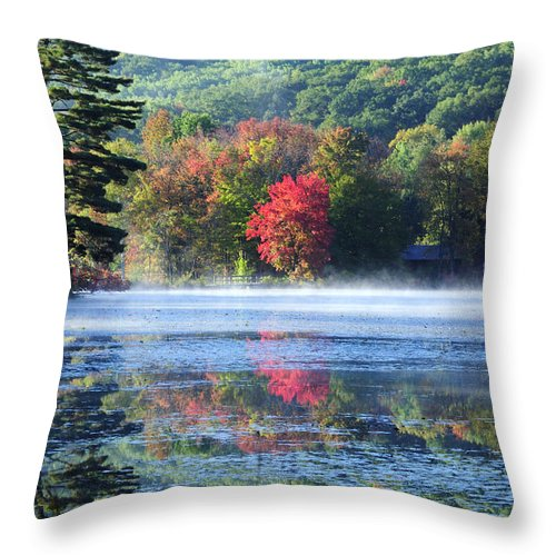 Fall Foliage Throw Pillow featuring the photograph Sanctuary by Tom Heeter