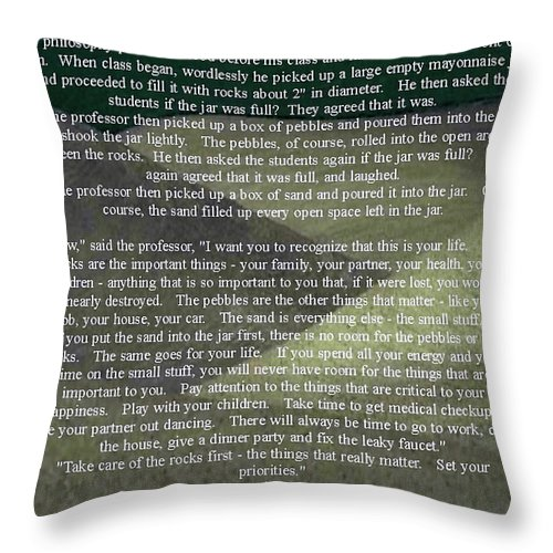Al Bourassa Throw Pillow featuring the photograph Sand by Al Bourassa