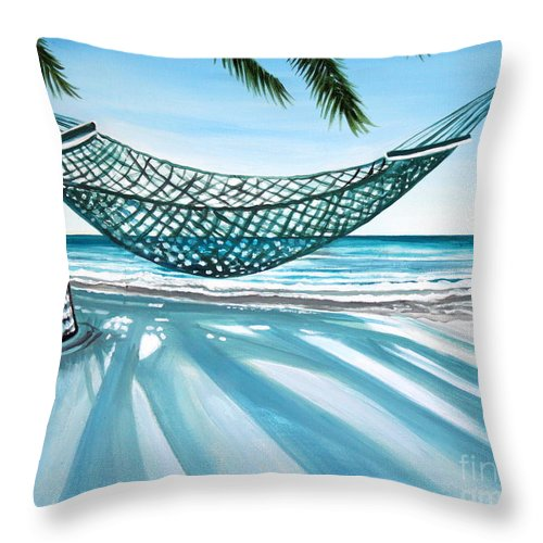 Landscape Throw Pillow featuring the painting Sand And Shadows by Elizabeth Robinette Tyndall