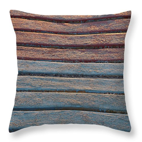 Sand Throw Pillow featuring the photograph Sand And Sunset by Philip Openshaw