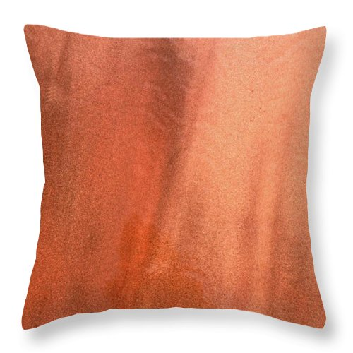 Abstract Throw Pillow featuring the photograph Sand Blend by Lyle Crump