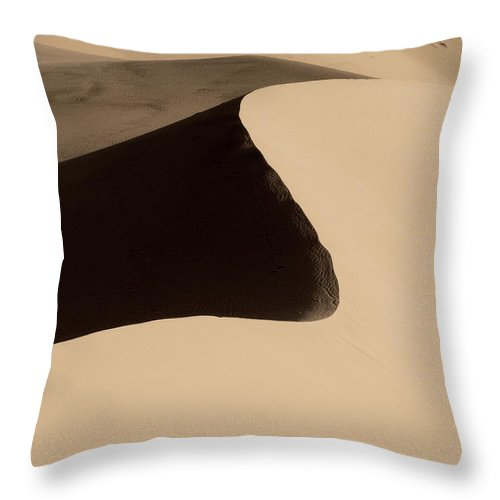 Sand Throw Pillow featuring the photograph Sand by Chad Dutson