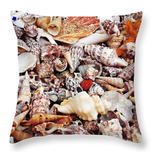 Shells Throw Pillow featuring the photograph Sand by Charles Stuart