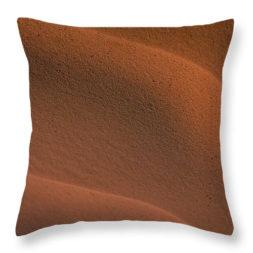 Sahara Throw Pillow featuring the photograph Sand In Sahara by Michael Mogensen