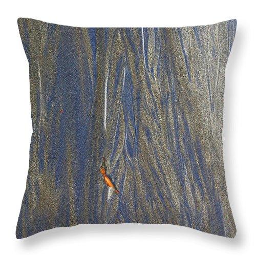 Sand Throw Pillow featuring the photograph Sand Patterns At Moeraki by Nareeta Martin