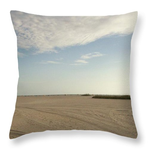 Nature Throw Pillow featuring the photograph Sand Storm At St. Pete Beach by Gail Kent