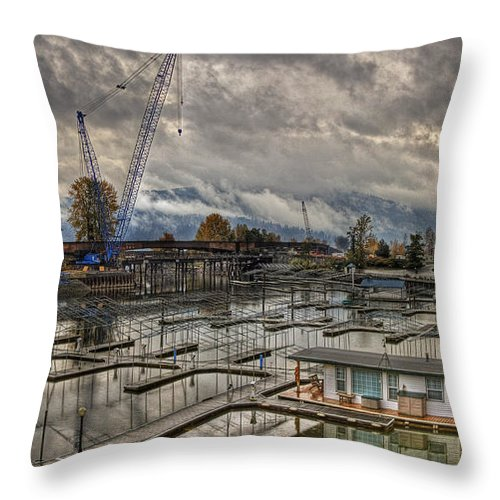 Throw Pillow featuring the photograph Sandpoint Marina 2 by Lee Santa
