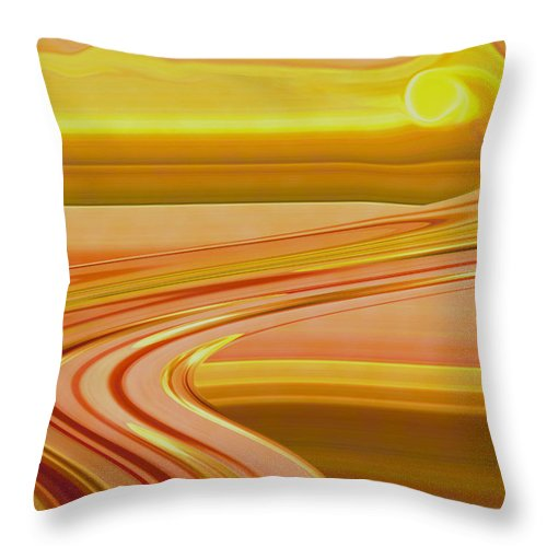 Sunset Art Throw Pillow featuring the digital art Sands Of Time by Linda Sannuti