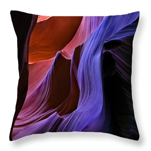 Sandstone Throw Pillow featuring the photograph Sandstone Cascade by Mike Dawson