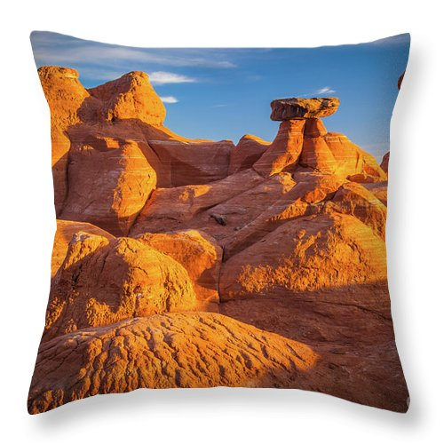 America Throw Pillow featuring the photograph Sandstone Castle by Inge Johnsson