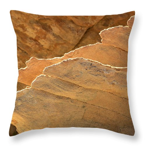 Nevada Throw Pillow featuring the photograph Sandstone Fins by Bob Christopher