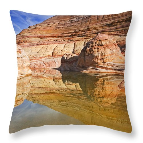 Pool Throw Pillow featuring the photograph Sandstone Illusions by Mike Dawson