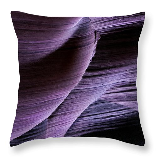 Slot Throw Pillow featuring the photograph Sandstone Symphony by Mike Dawson