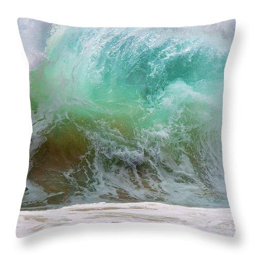 Beach Throw Pillow featuring the photograph Sandy Beach Surf by Sandra Sigfusson