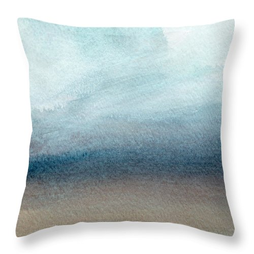Beach Throw Pillow featuring the painting Sandy Shore- Art by Linda Woods by Linda Woods