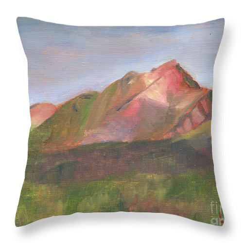 Colorado Throw Pillow featuring the painting Sangres I by Lilibeth Andre