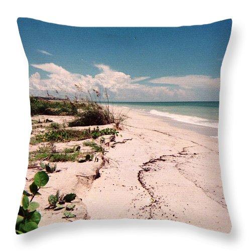 Beach Ocean Beachscape Florida Naples Sanibel Island Throw Pillow featuring the photograph Sanibel Beach I by Anna Villarreal Garbis