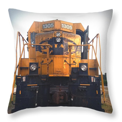 Train Throw Pillow featuring the photograph Santa Fe - 1305 by D'Arcy Evans