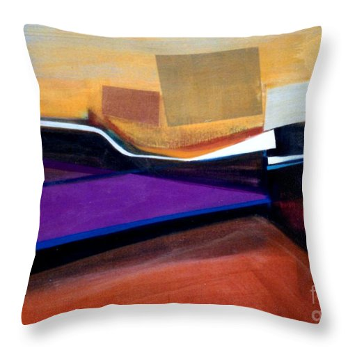 Abstract Throw Pillow featuring the painting Santa Fe 2 Let Loose by Marlene Burns